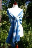 and voila! an indigo dyed shibori silk shawl