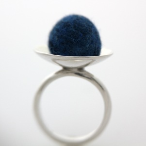 Wool Felt & Silver Ring - FeltUnited 2010