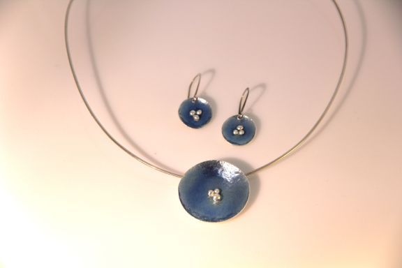 vitreous kiln fired enamel jewelry