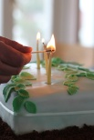 hoemmade beeswax and hemp birthday candles